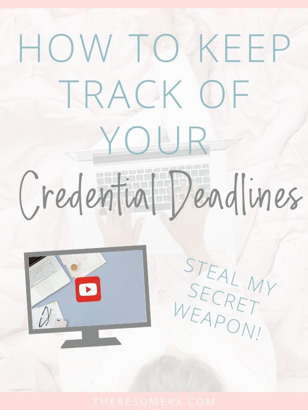 How to Keep Track of Your Professional Deadlines [video ...