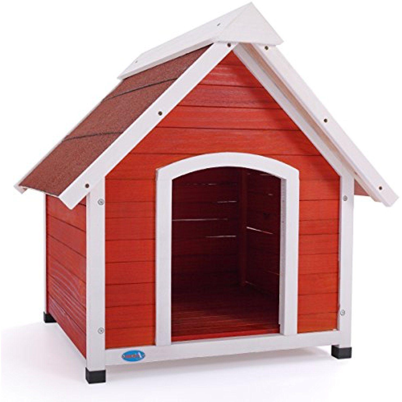 Jaxpety Wooden Dog House Medium Pet Wood Outdoor Shelter Weather