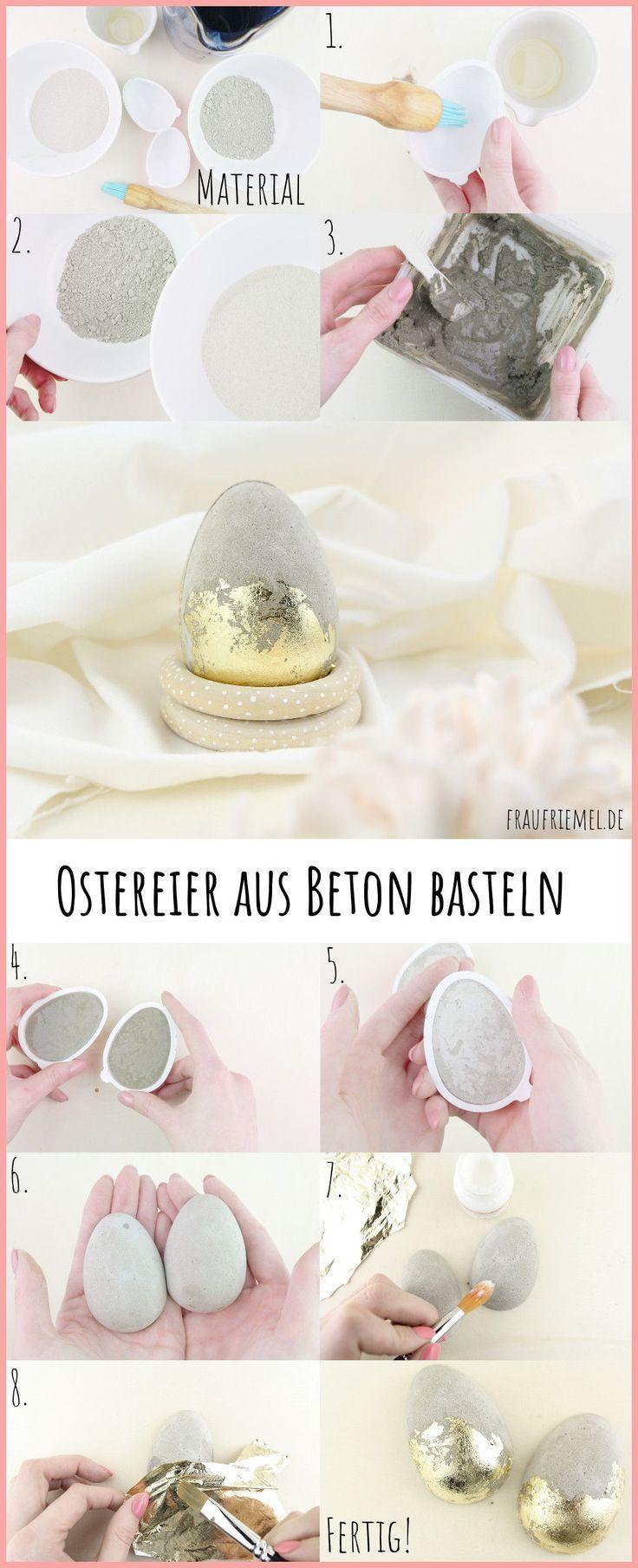 Ostereier aus Beton - moderne Osterdeko selber machen | frau friemel