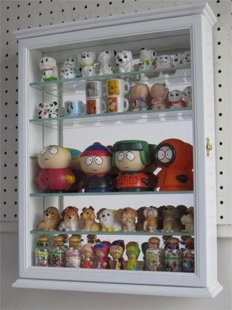 Small Gl Curio Cabinet Display Case Foter