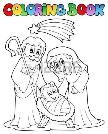 Colorear escena Natividad libro 1 | Biblia Niños | Pinterest ...