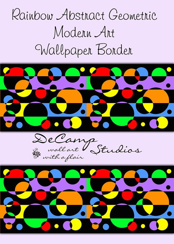 Rainbow Abstract Geometric Wallpaper Border Wall Decals For Any Home Decorating Ideas Stripes Ci Rainbow Abstract Wallpaper Border Geometric Wallpaper Border
