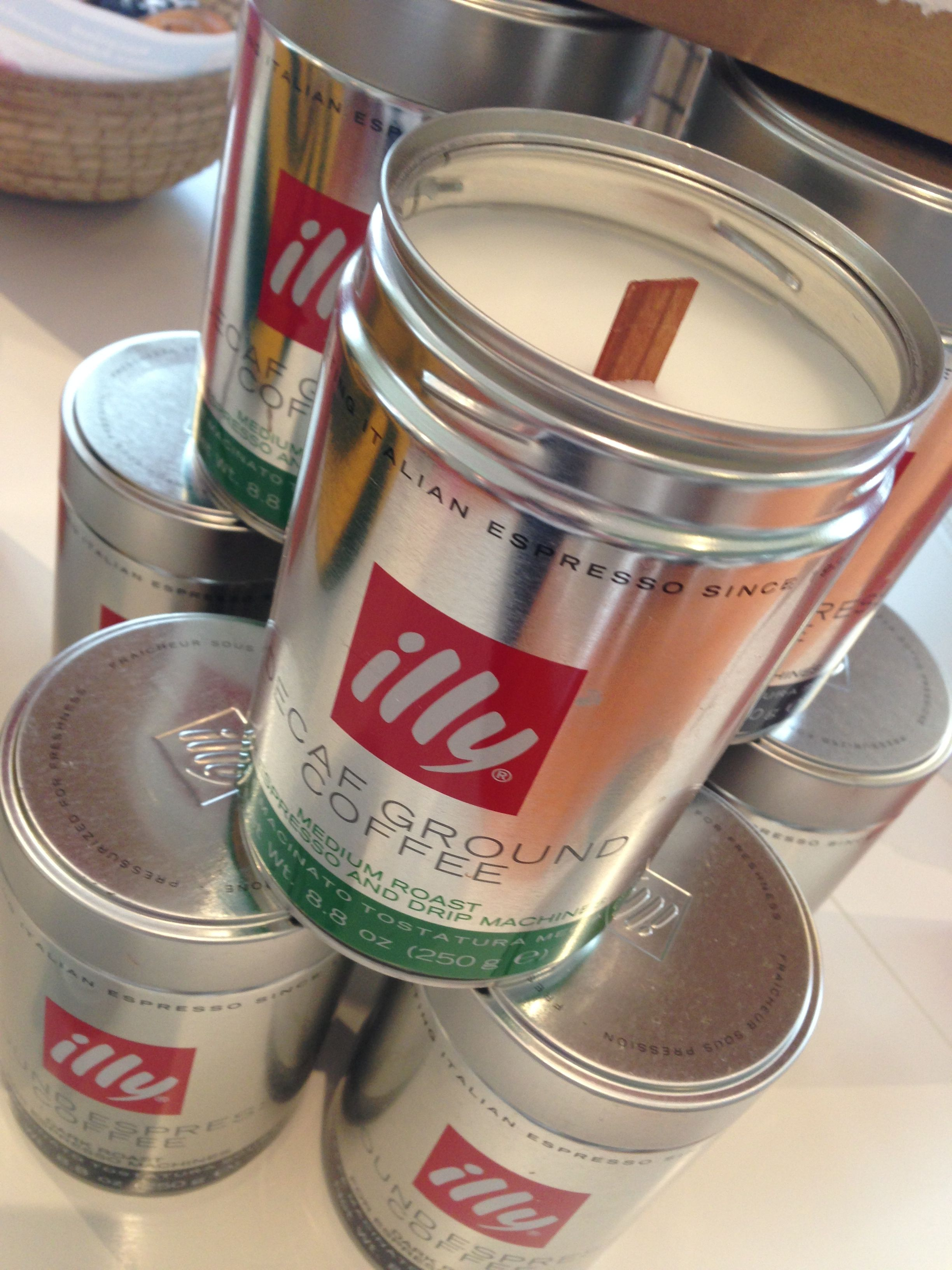 Love These Citronellalemongrass Candles Hand Poured In Upcycled Illy Coffee