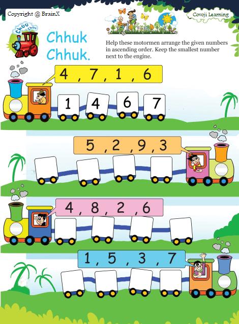 Ascending And Descending Order Covoji Learning In 2020 Math Activities Preschool Kindergarten Math Worksheets Math Addition Worksheets