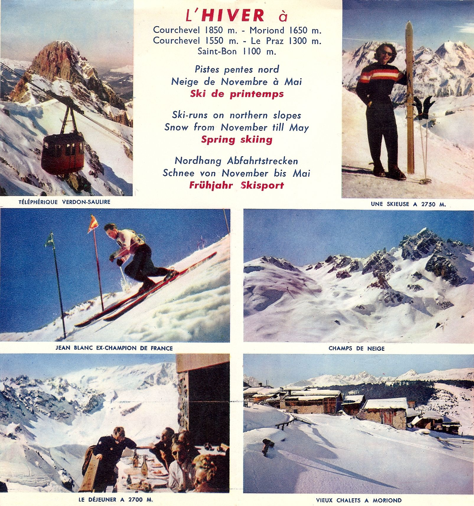 D pliant office du tourisme 1960 hiver courchevel pinterest - Office tourisme courchevel 1650 ...