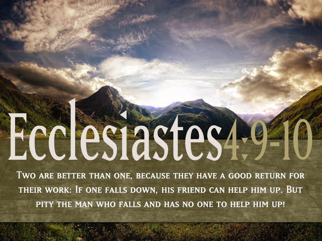 Ecclesiastes 4 9 10 12