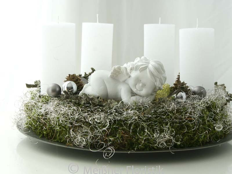 adventskranz adventskranz wei b engel ein designerst ck von meissner floristik bei