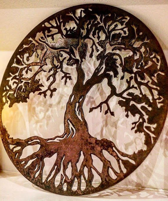 Metal Tree, Tree art, Metal wall art, Metal tree art, Family tree ...