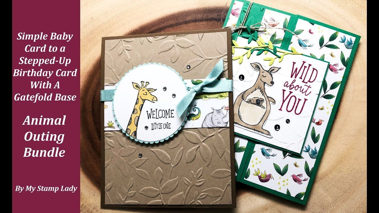 Animal Outing From Simple To Gatefold Baby Cards Card Supplies
