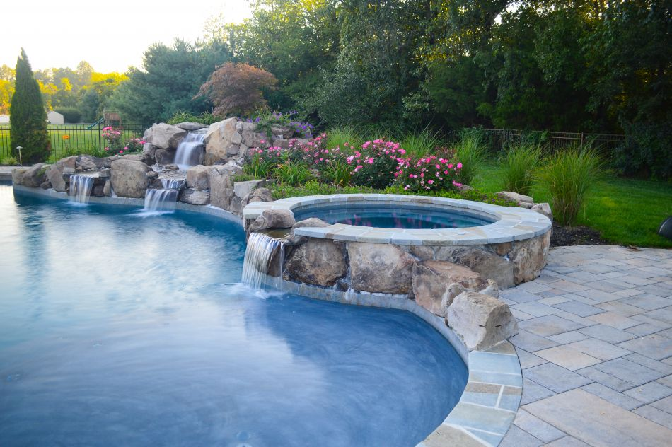 Spa Waterfalls Spa Waterfall Pool Pool Waterfall