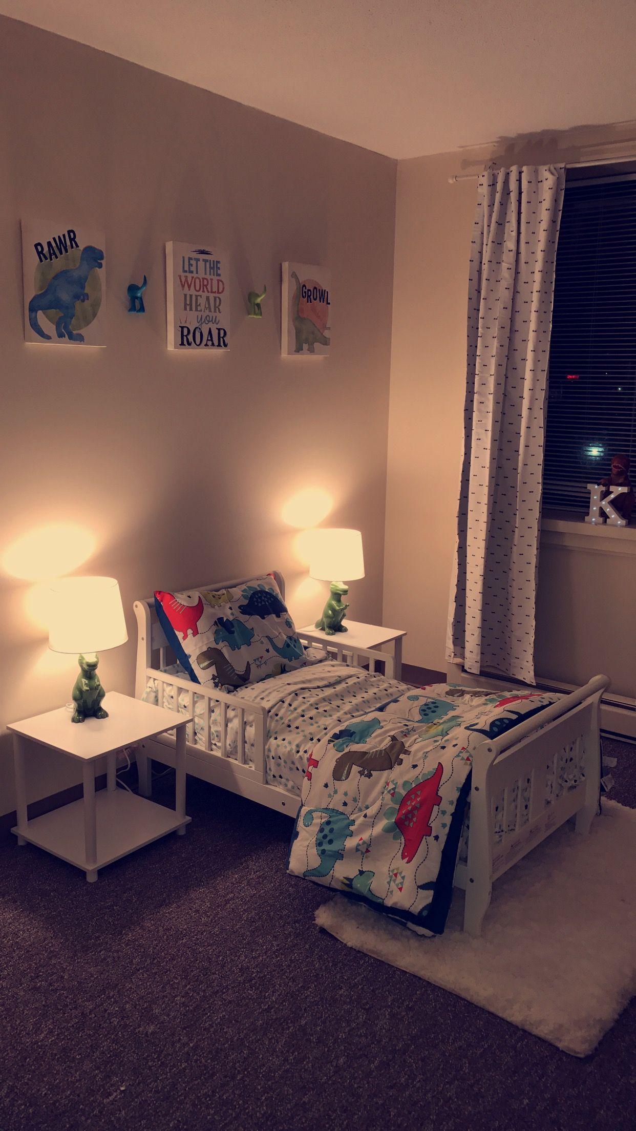 Toddler dinosaur bedroom | Boy toddler bedroom, Cool kids ...