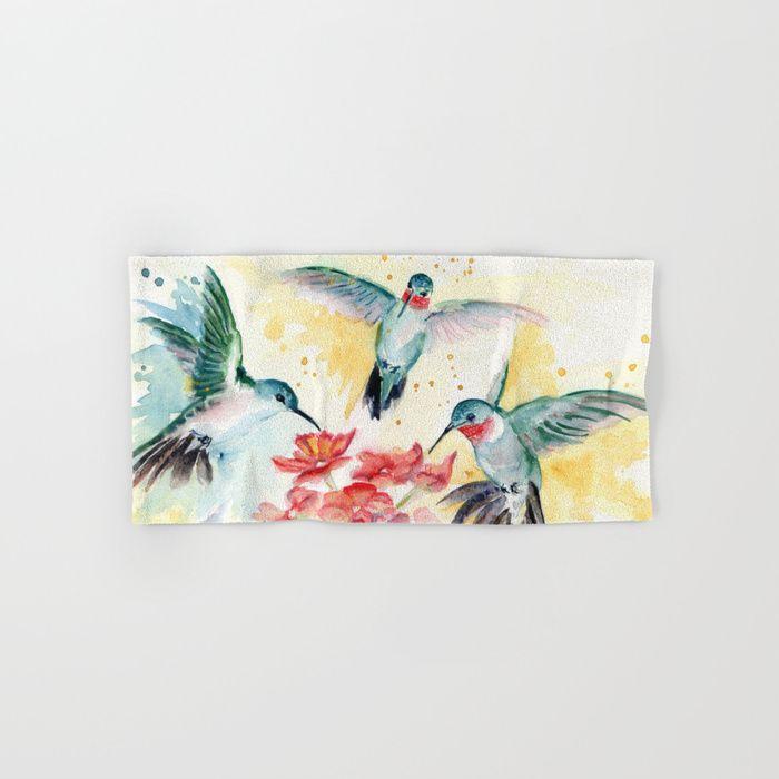 Hummingbird Party By Melly Terpening #hummingbirdlover #hummingbirds | Bathroom  Decor Products | Pinterest | Hummingbird, Bath Decor And Bath