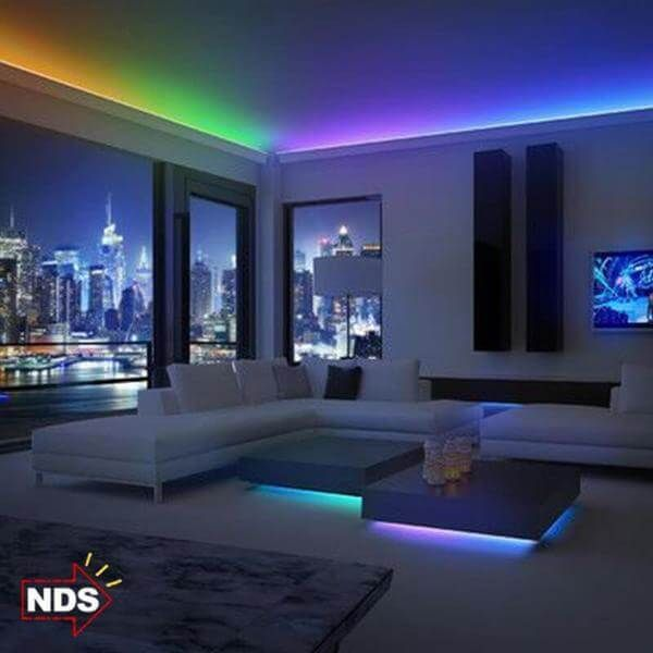 led light strips living room photo beautiful interior 16ft color changing 300 leds strip with remote control lights colour