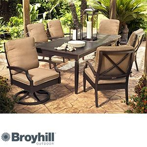 Awe Inspiring Radiance 7 Pc Dining Collection By Broyhill Outdoor Andrewgaddart Wooden Chair Designs For Living Room Andrewgaddartcom