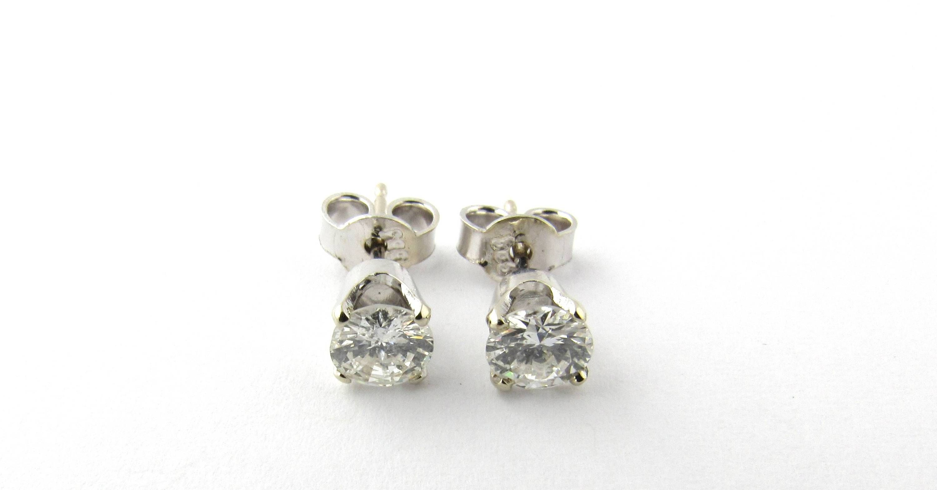h diamond total stud earrings i hi more white views gold antique carat