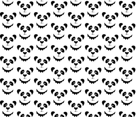 Pleased Panda fabric by beththompsonart on Spoonflower - custom fabric