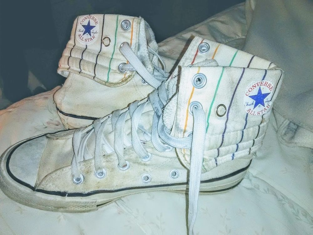 9caedab77013b Details about RARE 80s Vintage Converse Chuck Taylor High Top White ...