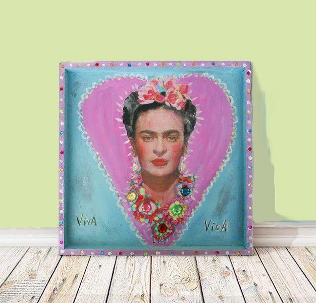 Frida Kahlo Viva la Vida von Atelier Art-istique auf DaWanda.com