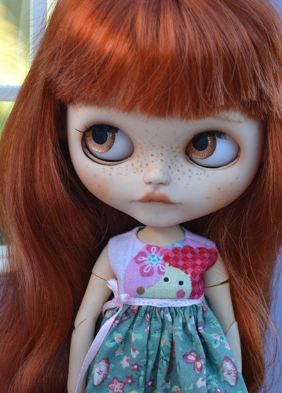 Ooak Custom Factory Blythe Doll Fern with Big by BlytheByBridie