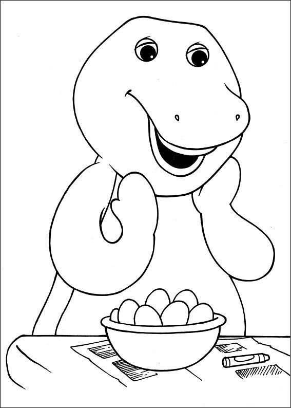 barney shocked cartoon coloring pages