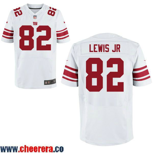 e5a79b49405 Men's New York Giants #82 Roger Lewis Jr White Road Stitched NFL Nike Elite  Jersey