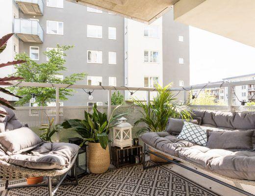 Bohemian Balkon Inrichting : Balkon inspiratie van een klein appartement van m my green