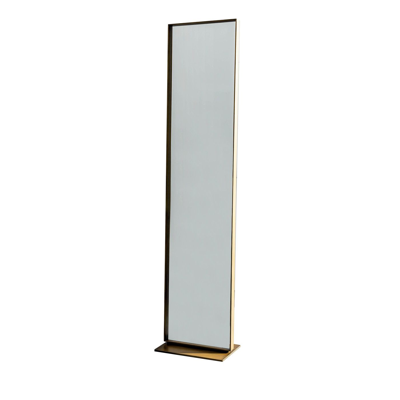 Double Sided Bronze Visual Wall Mirror Standing