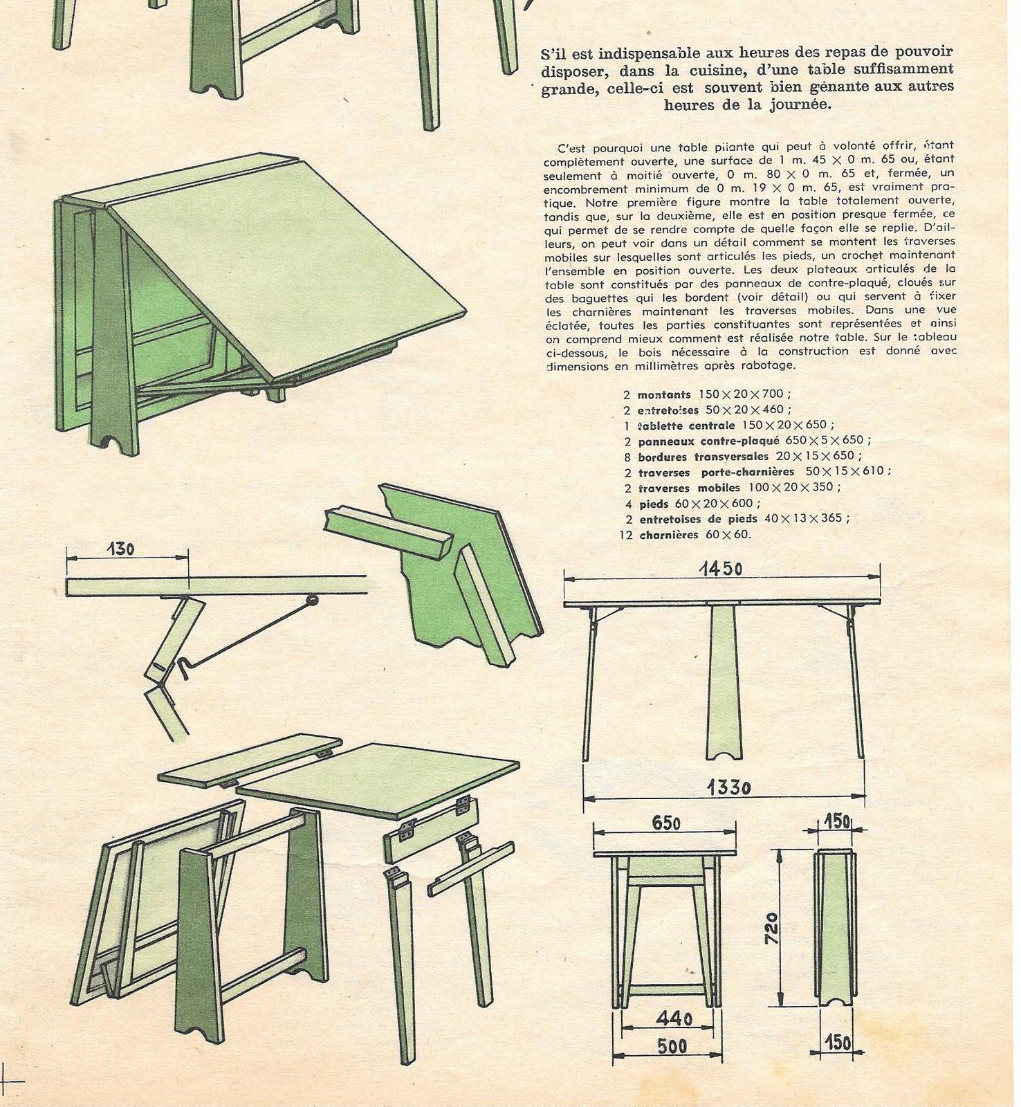 Table Pliante Vintage En Bois A Faire Soi Meme Table Pliante