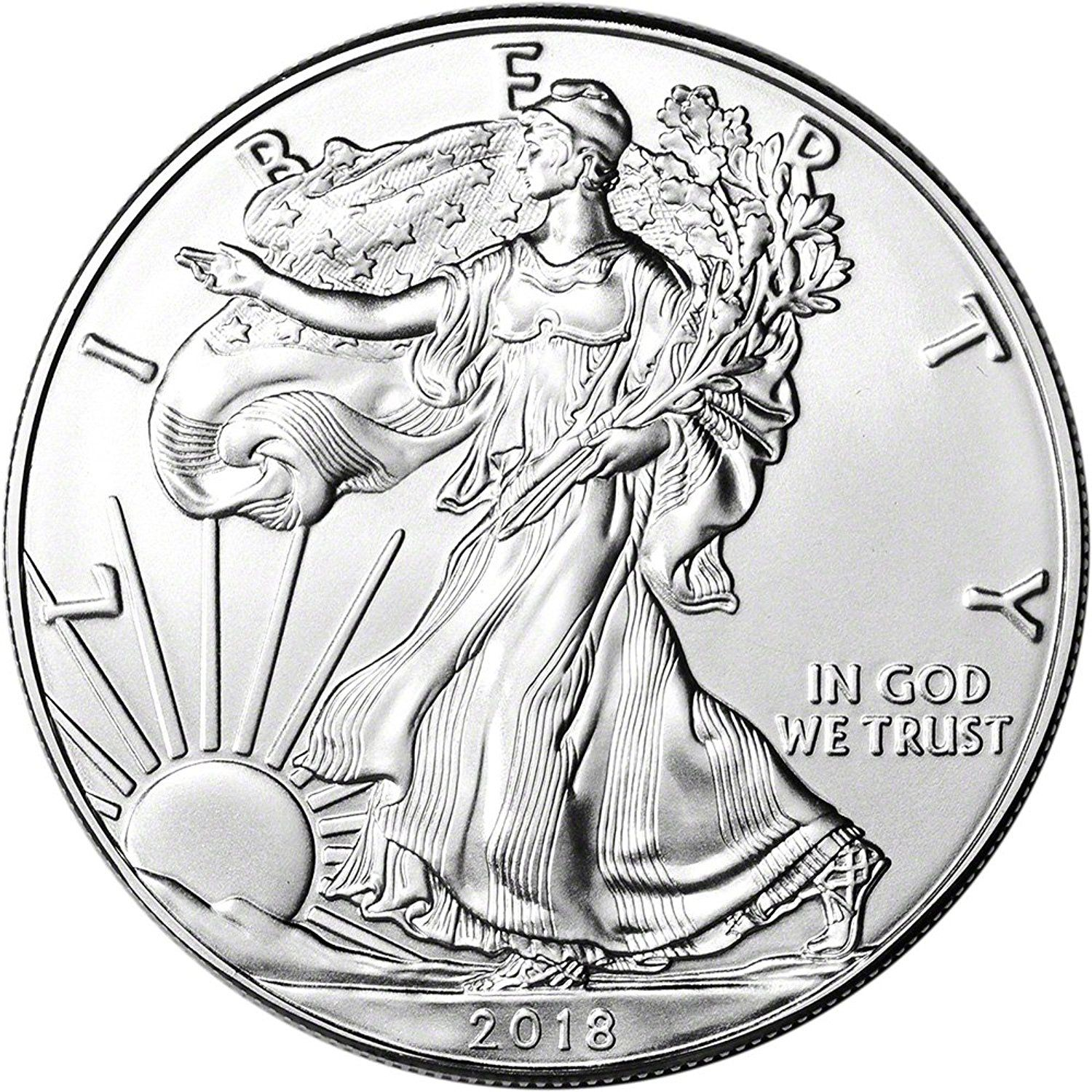 2015 American Silver Eagle Brilliant Uncirculated Condition Actual Silver Weight 1 Troy Oz Silver Bullion Coins Silver Eagle Coins Silver Bullion