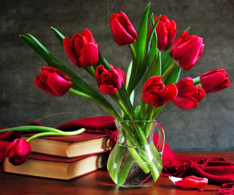 Flower Wallpaper For Facebook Profile Flowers Rose Flower Wallpaper Tulips In Vase Red Tulips