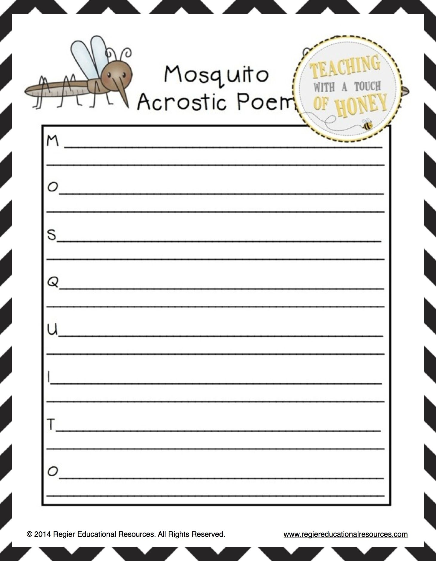 insect activities acrostic poem templates poetry writing