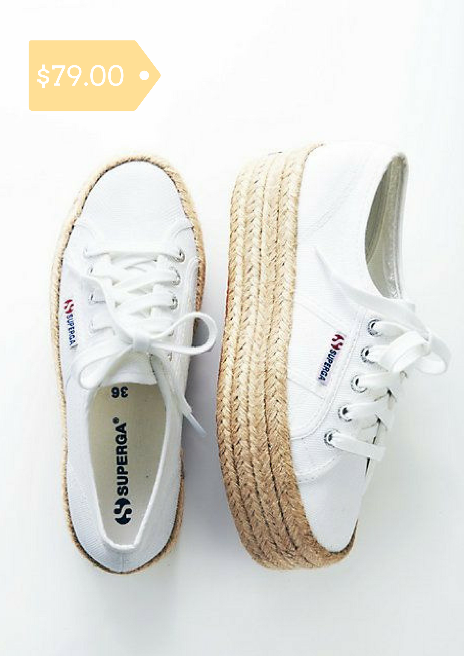 dac8033e6fb2 These Superga sneakers are the classics you know and love refreshed with a  fun, platform sole in raffia.