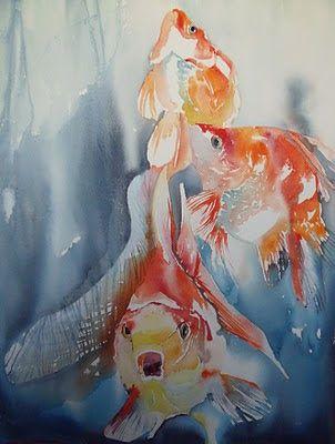 Atelier De La Petite Mer Poissons Poissons D Aquarelle