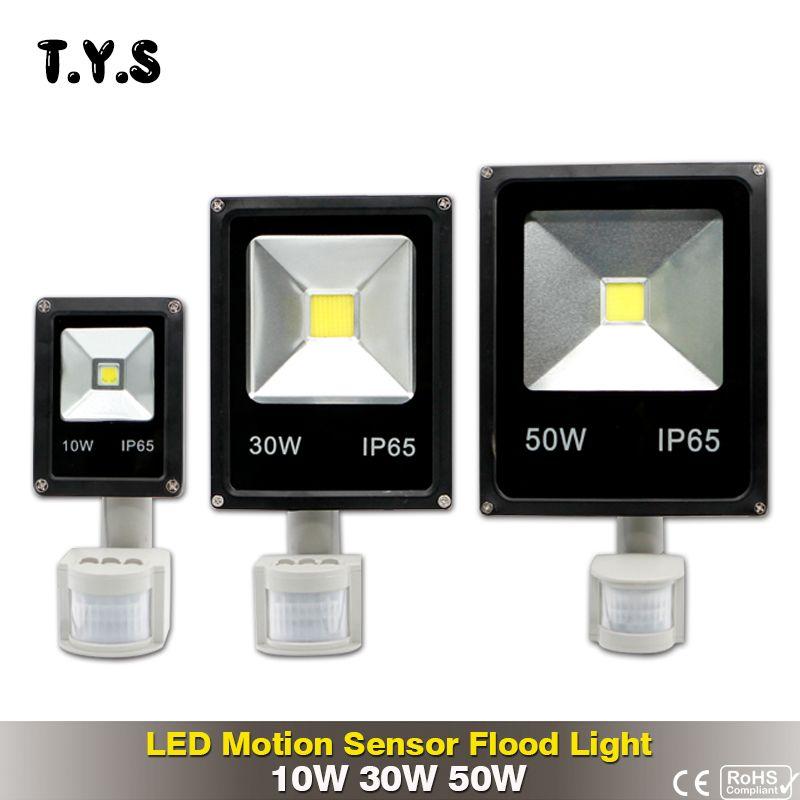 Pir Motion Sensor Led Flood Light 10w 30w 50w Floodlight Led Spotlight Outdoor Lighting Projector Wall Lamp Ac Led Flood Lights Projector Wall Outdoor Lighting