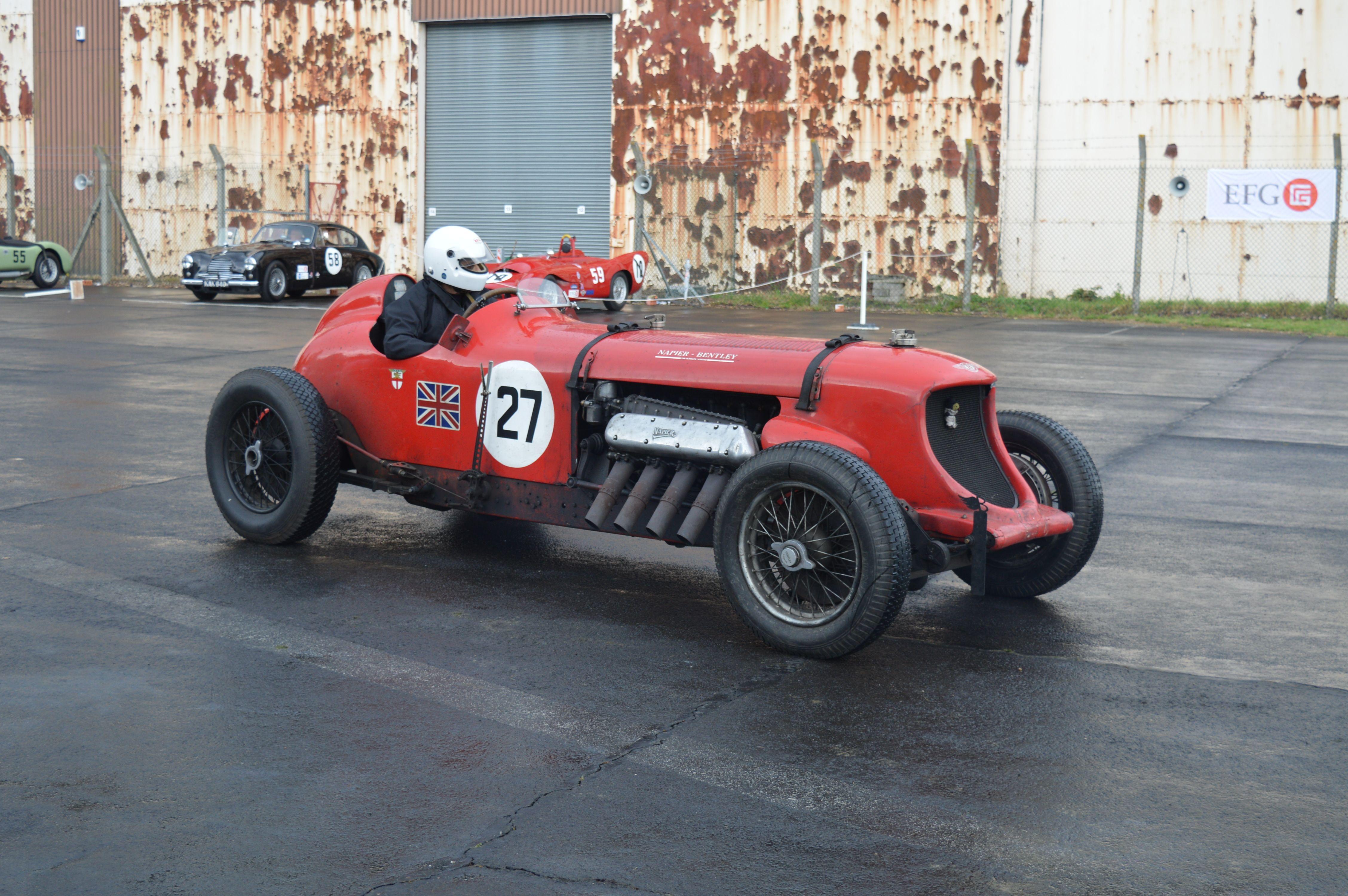 24 Litre Bentley Napier driven by Chris Williams He also built the
