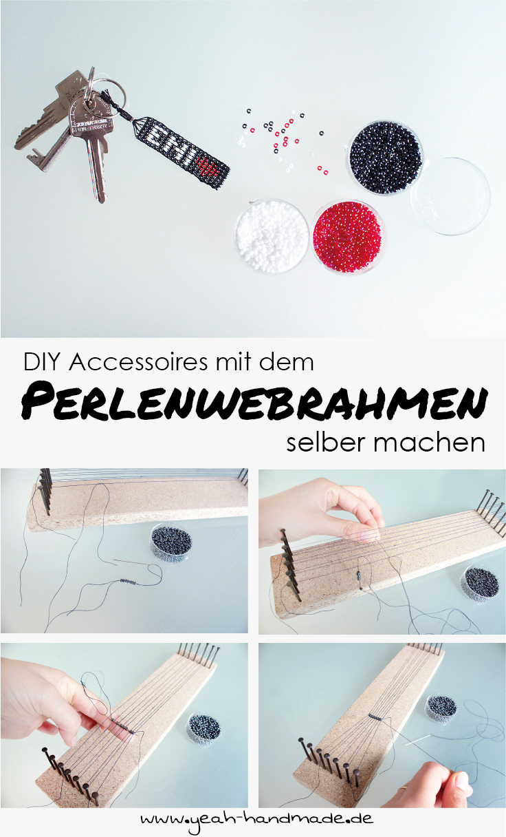 diy accessoires mit einem perlenwebrahmen selbermachen. Black Bedroom Furniture Sets. Home Design Ideas