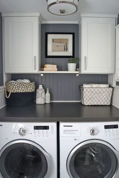 Nice Small Laundry Room Design. How To Design A Beautiful Laundry Room In A  Small Space Part 30