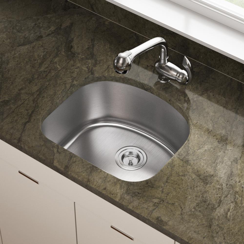 2118 D-Shape Stainless Steel Kitchen Sink