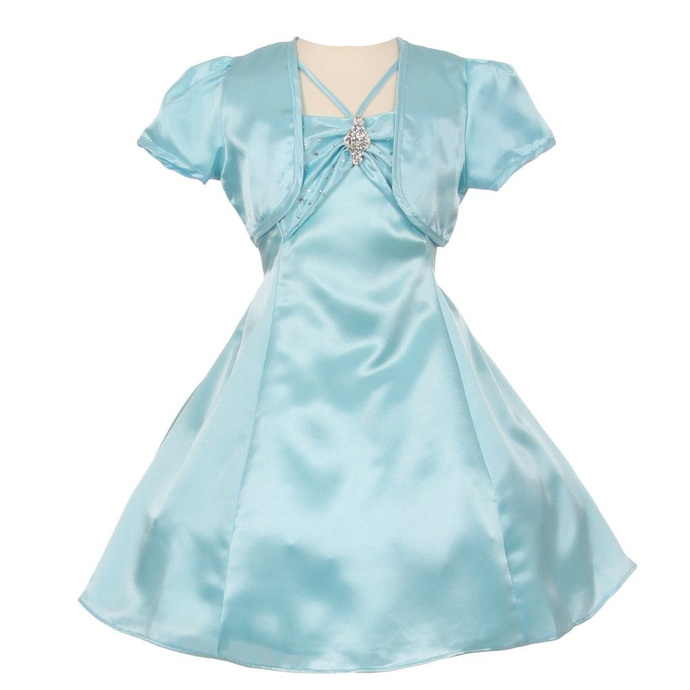 Gorgeous aqua blue party dress from shanil inc just for your little