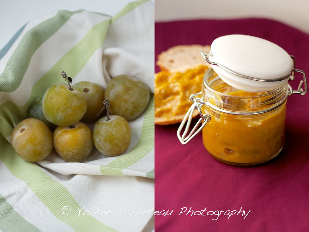 Really quick fresh Jam- Greengage and vanilla, just 2 ingredients! keeps for a week in the fridge.