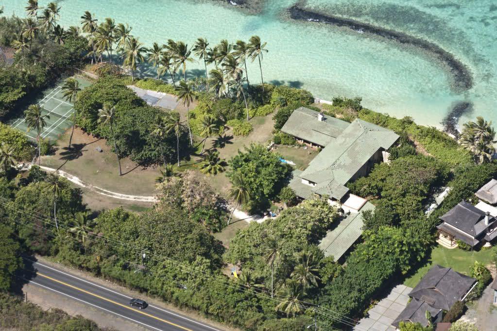 Aerial full estate magnum pi filming locations