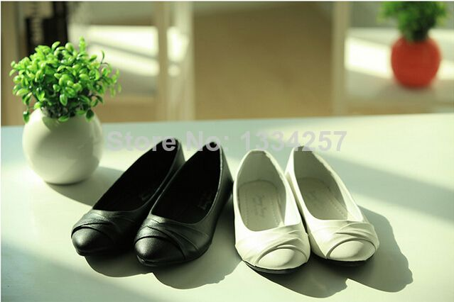 Hot sale 2014 NEW Fashion Women shoes for Ladies flats & White, Black free shipping size 35-39  A468