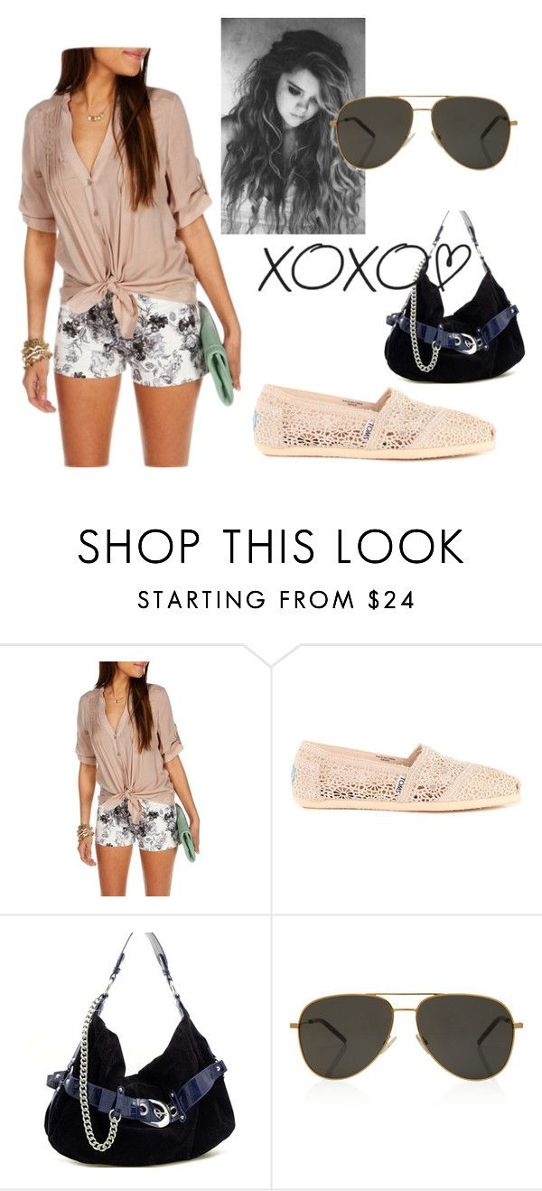 """""""xoxox"""" by kailstheswimmer ❤ liked on Polyvore featuring TOMS and Yves Saint Laurent"""