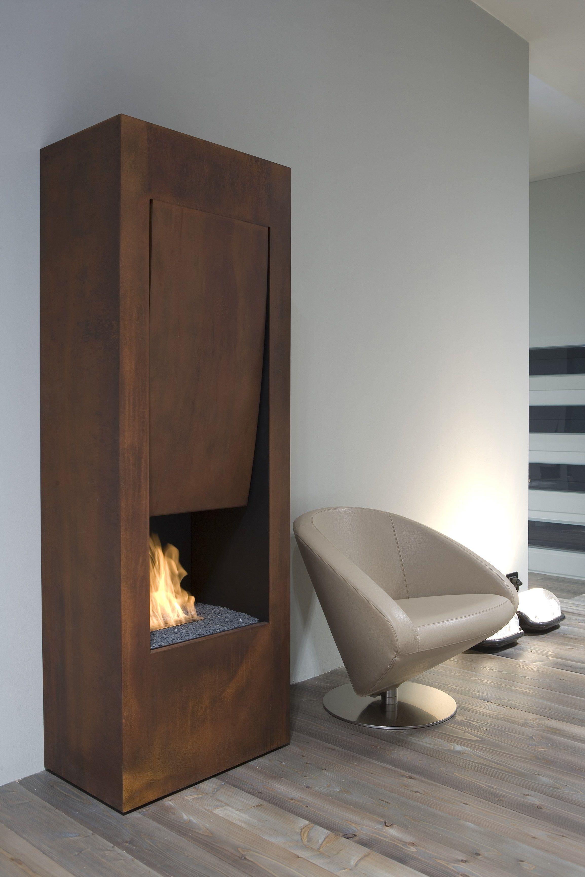Steel boiler fireplace il canto del fuoco by antonio lupi design