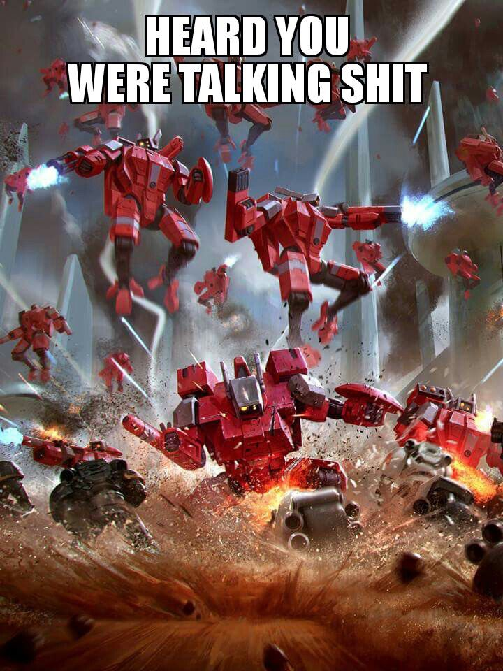 Don T Mess With The Farsight Bomb Tau Empire Tau Warhammer Warhammer Art