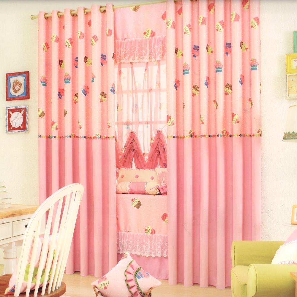 Sweet Cupcake Patterns Kids Pink Curtains Pink Curtains Kids Curtains Interior Design Bedroom