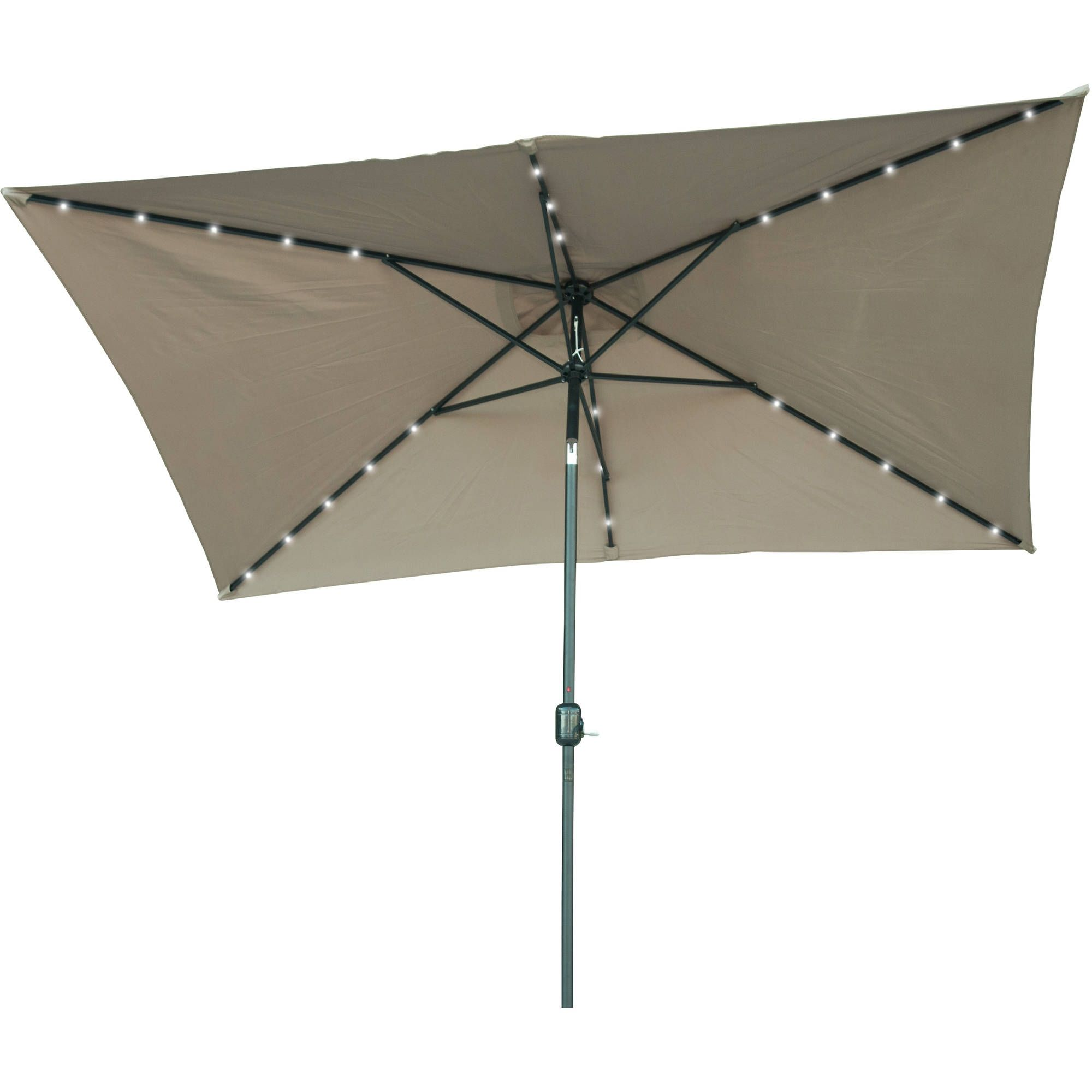 Solar Lights For Patio Umbrellas Classy Rectangular Patio Umbrella With Solar Lights  Patio Decor Decorating Inspiration