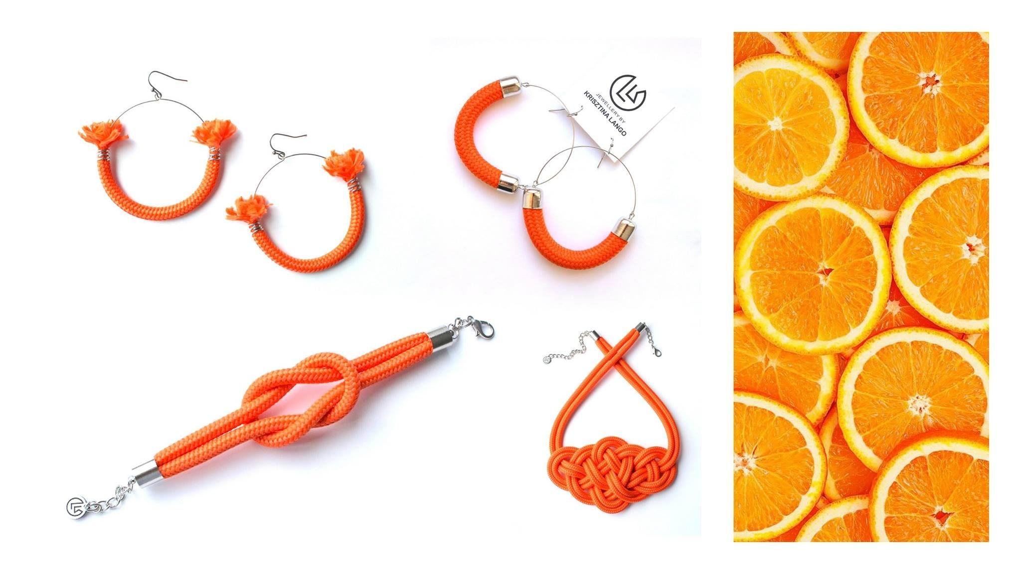 Krisztina Lango narancssárga ékszerek