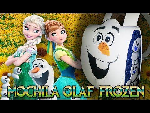 Aprenda a fazer uma lembrancinha FROZEN que vai arrasar na sua festa. A  mochilinha do OLAF - FROZEN FEVER Lista de materiais: *E.v.a nas cores  branco, ...