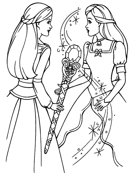 Pin by Tsvetelina on Barbie coloring - part 2 in 2020 ...